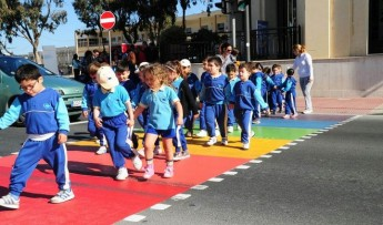 Gozo has its first rainbow zebra crossing celebrating LBGT rights