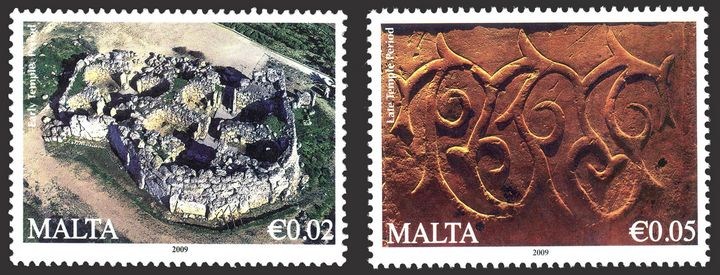 MaltaPost reprint of €0.01, €0.02 & €0.05 stamp of the Definitive Issue