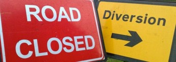 Road diversion in place for works related to the Coast Road Project