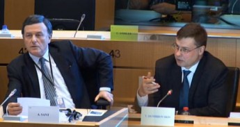 "Valdis Dombrovskis tells Alfred Sant, ECB is ""achieving its inflation targets"""