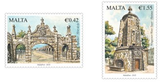 Philatelic postage stamp issue - 400th anniversary Wignacourt Aqueduct