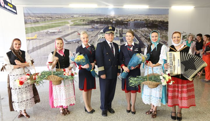 Transaero Airlines inaugurates its first flight from Moscow to Malta