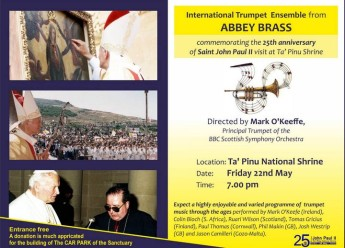 International Trumpet Ensemble from Abbey Brass in concert at Ta' Pinu
