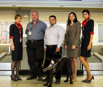Assistance dogs can now travel with their owners on every Air Malta flight
