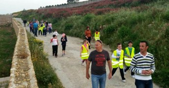 Gozo College Gharb Primary pupils and parents enjoy a night trek