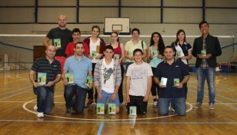 Smash Hits Badminton Club tournament at the Gozo Sports Complex