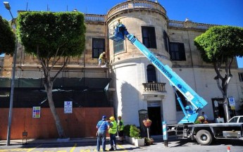 Wirt Ghawdex restoration project on façade of Ministry for Gozo building