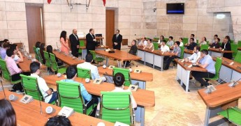 Sir M. A. Refalo Sixth Form students tour new Parliament House