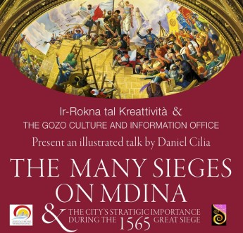 Illustrated talk in Gozo by Daniel Cilia on 'The Many Sieges of Mdina'
