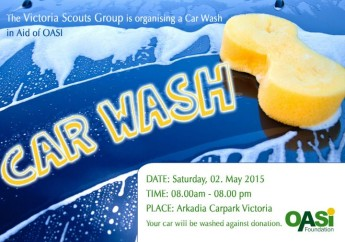 Victoria Scout Group charity car wash in aid of the OASI Foundation