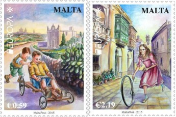 MaltaPost launches EUROPA 2015 postage stamp issue - Old Toys