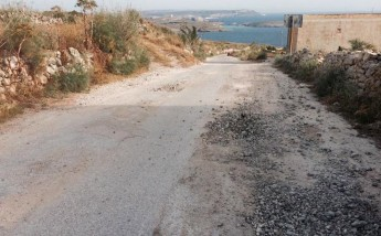 Disastrous state of the road to Hondoq ir-Rummien Bay - Readers Letter