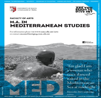 The Faculty of Arts M.A. in Mediterranean Studies (MAMS) opens in October