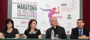 BOV Volleyball Marathon 2015 launched in aid of Id-Dar tal-Providenza