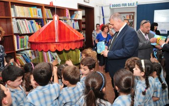 Minister for Gozo presents children's books to Gozo's Public Library