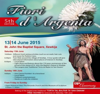 5th edition of Fiori D'Argenta at St John the Baptist Square, Xewkija