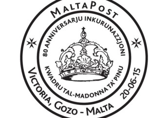 Special hand postmark for 80th anniversary: Kwadru Madonna Ta' Pinu