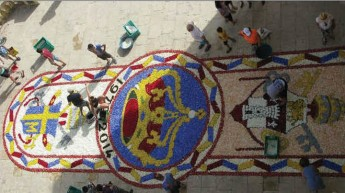 Infiorata 2015 for feast of the Visitation of Our Lady to St. Elizabeth
