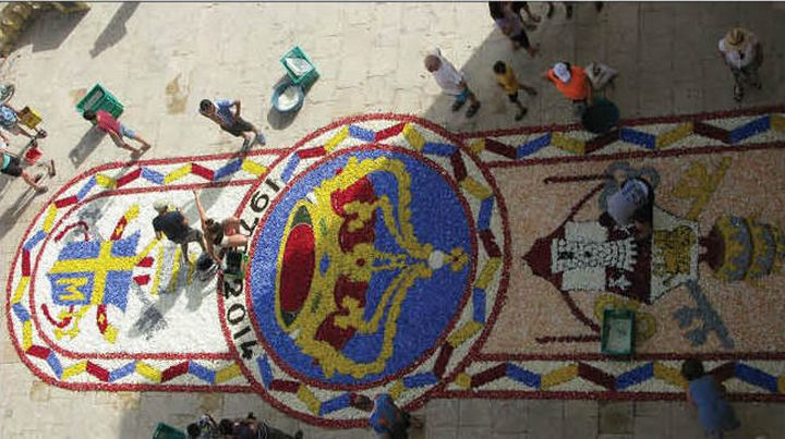 Infiorata celebrates the feast of the Visitation of Our Lady to St. Elizabeth