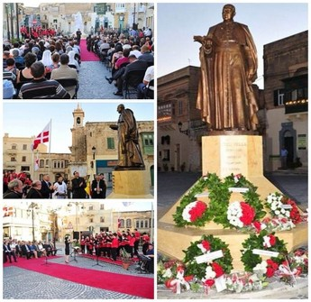 New monument unveiled in Savina Square in honour of Mgr. Luigi Vella