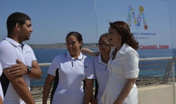 Prime Minister's wife to swim Gozo Channel to raise funds for charity