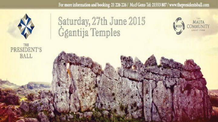 Ggantija Temples to host the President's Ball for 2nd year running