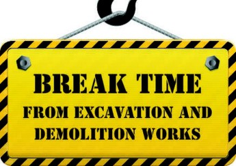 Summer break from demolition or excavation works in areas of Gozo