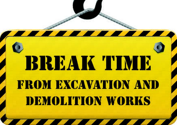 Summer break time in Gozo from dust, demolition and noise