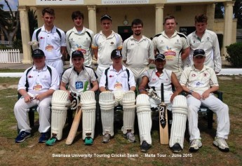 Swansea University Touring XI  battle it out with Marsa CC in 2 great games
