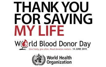 World Blood Donor Day being celebrated on the 14th of June