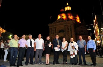 New floodlight system inaugurated at the Xewkija Rotunda