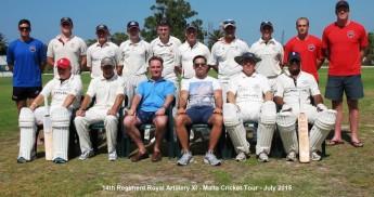 Marsa & 14th Regiment Royal Artillery XI battle it out on the cricket field