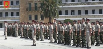 Passing-Out parade for seventy soldiers of the Armed Forces of Malta