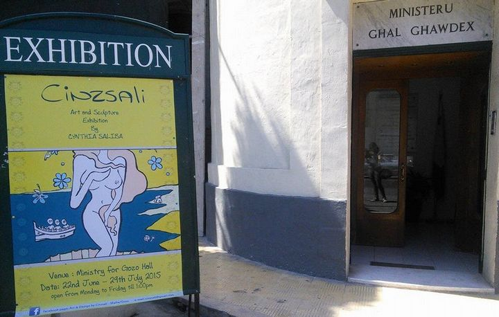 Cinzsali - Art & sculpture exhibition by Gozitan artist Cynthia Saliba