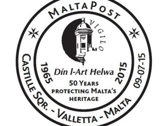 MaltaPost special hand postmark - Din l-Art Helwa 50th anniversary