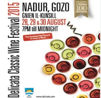 The Delicata Classic Wine Festival - 13th edition next month in Nadur