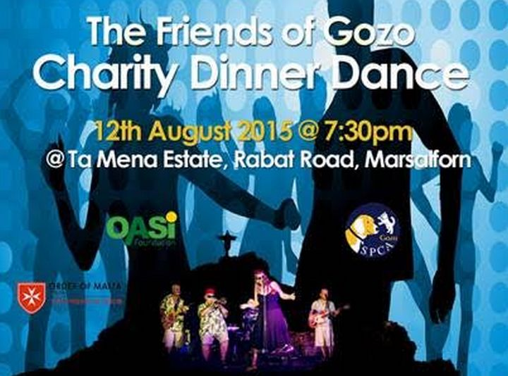 Charity Dinner Dance for 3 local charities with the Friends of Gozo