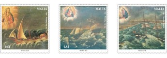MaltaPost issues stamp set featuring maritime ex-voto paintings