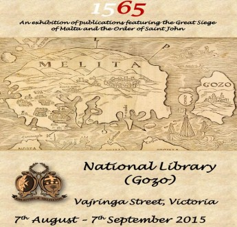 1565: Gozo exhibition on the Great Siege of Malta & Order of St John