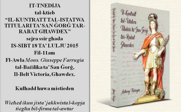 Book launch on the commissioning of the statue of St George in 1838