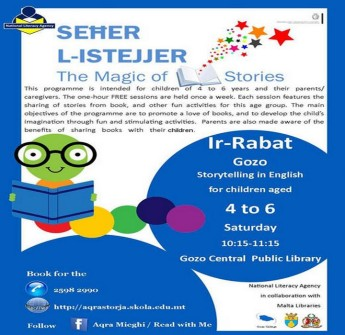 The Magic of Stories: Story telling in English every Saturday in Victoria
