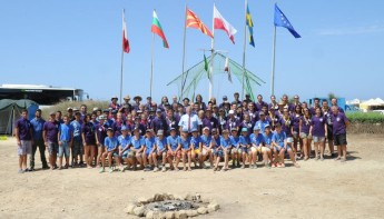 Victoria Scout Group's summer camp taking place at Dwejra