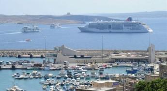 Gozo Minister Anton Refalo visits luxury cruise liner Europa 2