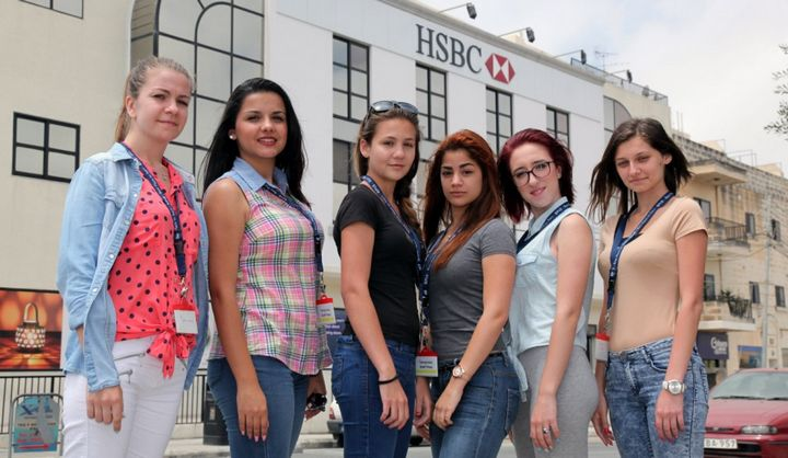 MCAST students apprenticeship at HSBC Contact Centre