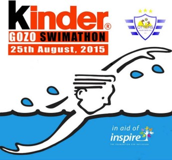 Kinder Gozo Swimmathon 2015 in aid of Inspire - Otters Marsalforn