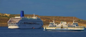 MV Oriana calls at Gozo on Sunday during cruise of the Med