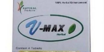 Environmental Health Dept warning on V-Max Herbal pills