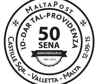 Special hand postmark – Dar tal-Providenza 50th anniversary