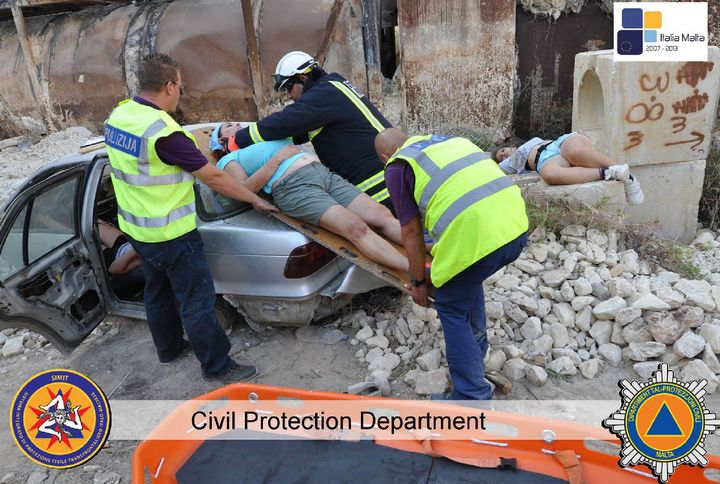 Earthquake simulation exercise well underway in Gozo