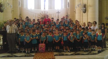 GC Ghajnsielem Primary attend Mass to mark start of scholastic year